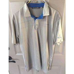 Travis Mathew Polo Shirt- Grey- Large